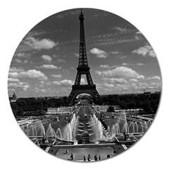 Vintage France Paris Fontain Chaillot Tour Eiffel 1970 Extra Large Sticker Magnet (Round)