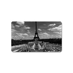 Vintage France Paris Fontain Chaillot Tour Eiffel 1970 Name Card Sticker Magnet