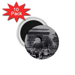 Vintage France Paris Triumphal arch 1970 10 Pack Small Magnet (Round)