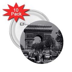 Vintage France Paris Triumphal arch 1970 10 Pack Regular Button (Round)