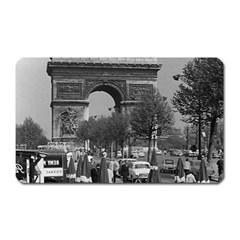 Vintage France Paris Triumphal arch 1970 Large Sticker Magnet (Rectangle)