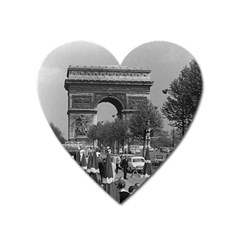 Vintage France Paris Triumphal arch 1970 Large Sticker Magnet (Heart)