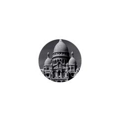 Vintage France Paris The Sacre Coeur Basilica 1970 Mini Button (Round)