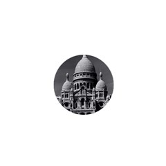 Vintage France Paris The Sacre Coeur Basilica 1970 Mini Magnet (Round)