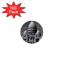 Vintage France Paris The Sacre Coeur Basilica 1970 100 Pack Mini Button (round)