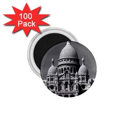 Vintage France Paris The Sacre Coeur Basilica 1970 100 Pack Small Magnet (Round)