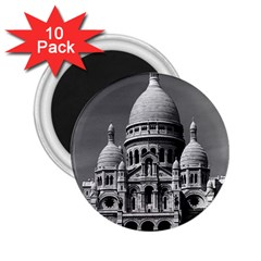 Vintage France Paris The Sacre Coeur Basilica 1970 10 Pack Regular Magnet (round)