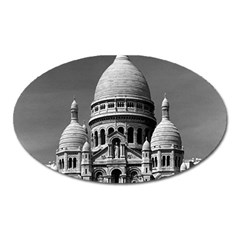 Vintage France Paris The Sacre Coeur Basilica 1970 Large Sticker Magnet (oval)