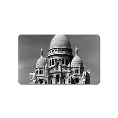 Vintage France Paris The Sacre Coeur Basilica 1970 Name Card Sticker Magnet