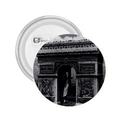 Vintage France Paris Triumphal arch  Place de l Etoile Regular Button (Round)