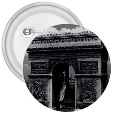 Vintage France Paris Triumphal Arch  Place De L etoile Large Button (round)