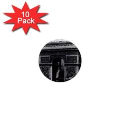 Vintage France Paris Triumphal Arch  Place De L etoile 10 Pack Mini Magnet (round)