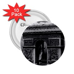 Vintage France Paris Triumphal arch  Place de l Etoile 10 Pack Regular Button (Round)