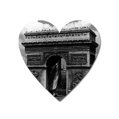 Vintage France Paris Triumphal Arch  Place De L etoile Large Sticker Magnet (heart)