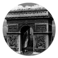 Vintage France Paris Triumphal arch  Place de l Etoile Extra Large Sticker Magnet (Round)