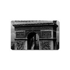 Vintage France Paris Triumphal arch  Place de l Etoile Name Card Sticker Magnet