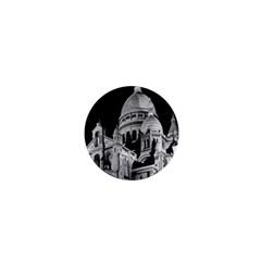 Vintage France Paris The Sacre Coeur Basilica 1970 Mini Magnet (round)