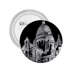 Vintage France Paris The Sacre Coeur Basilica 1970 Regular Button (Round)