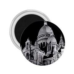 Vintage France Paris The Sacre Coeur Basilica 1970 Regular Magnet (Round)