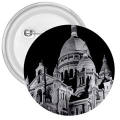 Vintage France Paris The Sacre Coeur Basilica 1970 Large Button (Round)