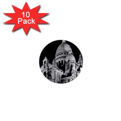 Vintage France Paris The Sacre Coeur Basilica 1970 10 Pack Mini Button (Round)