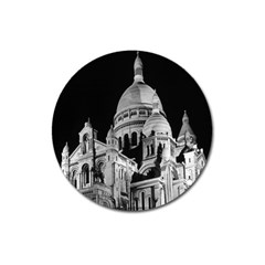Vintage France Paris The Sacre Coeur Basilica 1970 Large Sticker Magnet (round)