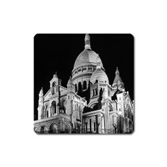 Vintage France Paris The Sacre Coeur Basilica 1970 Large Sticker Magnet (Square)