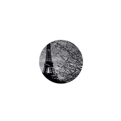 Vintage France Paris Eiffel Tour 1970 Mini Button (round)