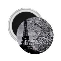 Vintage France Paris Eiffel tour 1970 Regular Magnet (Round)