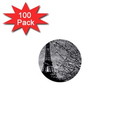 Vintage France Paris Eiffel Tour 1970 100 Pack Mini Button (round)
