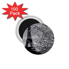 Vintage France Paris Eiffel Tour 1970 100 Pack Small Magnet (round)