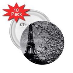 Vintage France Paris Eiffel tour 1970 10 Pack Regular Button (Round)