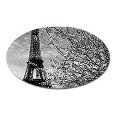 Vintage France Paris Eiffel tour 1970 Large Sticker Magnet (Oval)