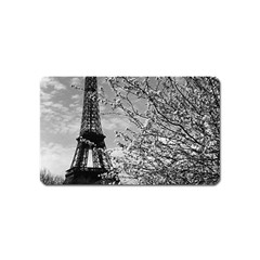 Vintage France Paris Eiffel tour 1970 Name Card Sticker Magnet