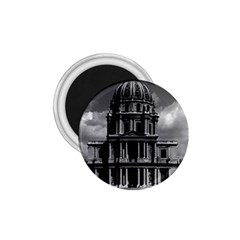 Vintage France Paris Church Saint Louis Des Invalides Small Magnet (round)