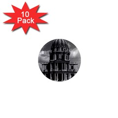 Vintage France Paris Church Saint Louis des Invalides 10 Pack Mini Magnet (Round)