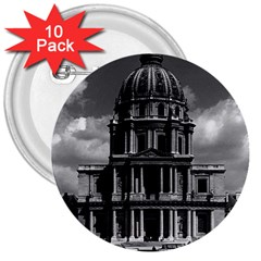 Vintage France Paris Church Saint Louis des Invalides 10 Pack Large Button (Round)