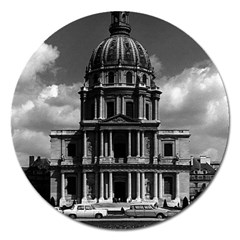 Vintage France Paris Church Saint Louis des Invalides Extra Large Sticker Magnet (Round)