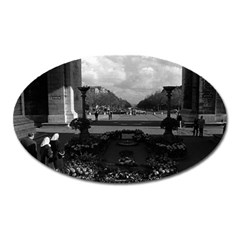 Vintage France Paris Triumphal Arch Unknown Soldier Large Sticker Magnet (oval)