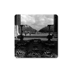 Vintage France Paris Triumphal Arch Unknown Soldier Large Sticker Magnet (square)
