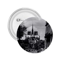 Vintage France Paris Notre Dame Saint Louis Island 1970 Regular Button (round)