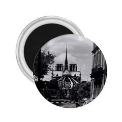 Vintage France Paris Notre Dame Saint Louis Island 1970 Regular Magnet (round)