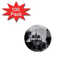 Vintage France Paris notre dame saint louis island 1970 100 Pack Mini Magnet (Round)
