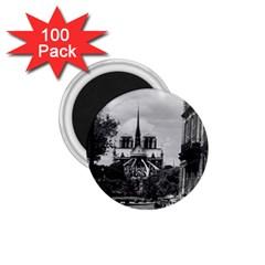 Vintage France Paris Notre Dame Saint Louis Island 1970 100 Pack Small Magnet (round)