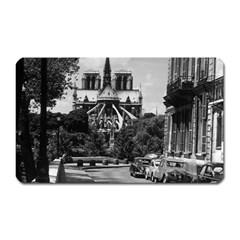 Vintage France Paris notre dame saint louis island 1970 Large Sticker Magnet (Rectangle)