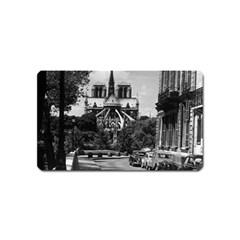 Vintage France Paris Notre Dame Saint Louis Island 1970 Name Card Sticker Magnet
