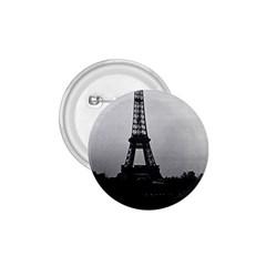 Vintage France Paris Eiffel tour  Seine at dusk 1970 Small Button (Round)