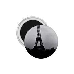 Vintage France Paris Eiffel tour  Seine at dusk 1970 Small Magnet (Round)