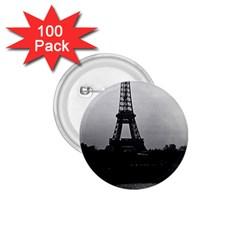 Vintage France Paris Eiffel Tour  Seine At Dusk 1970 100 Pack Small Button (round)