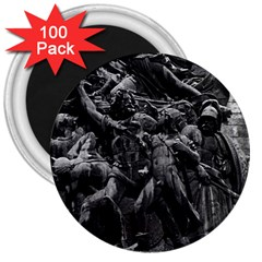 Vintage France Paris triumphal arch marseillaise rude 100 Pack Large Magnet (Round)